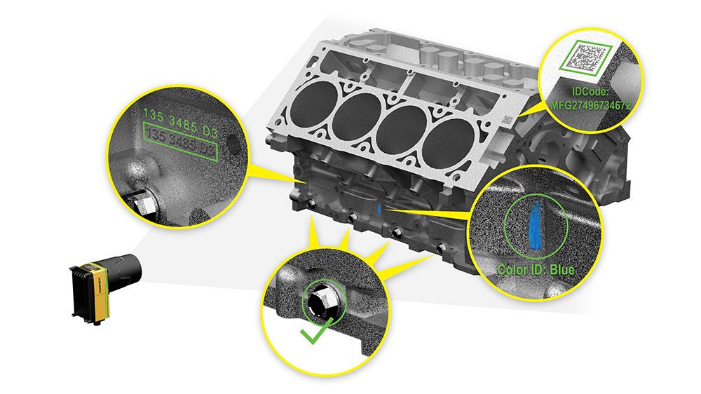 Inspeção por varredura de área do bloco de motor